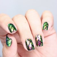 Nailart || Flakie Fishtail